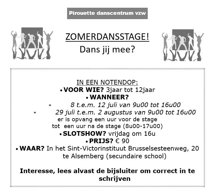 PIROUETTE ZOMER STAGES